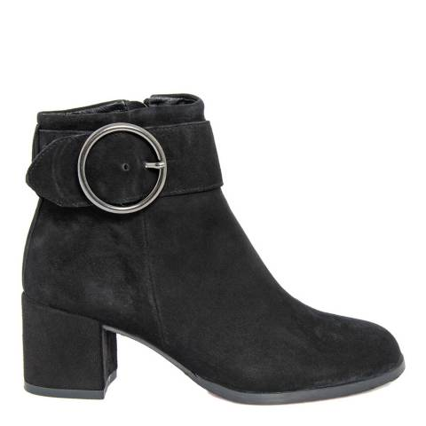 Gusto Black Suede Jackpot Heel Ankle Boots