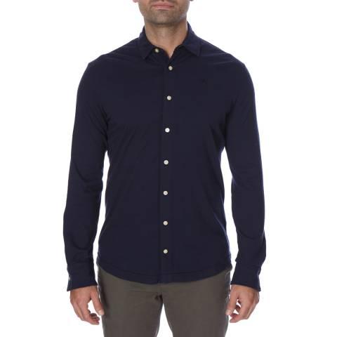 Hackett London Navy Slim Fit Cotton Shirt