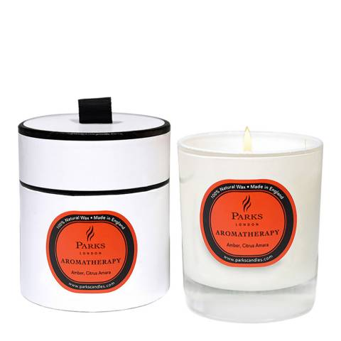 Parks London Amber/Citrus and Amara Aromatherapy Single Wick Candle