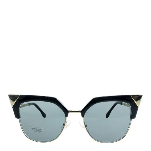 Fendi Women's Black Gold / Grey Sunglasses 54mm