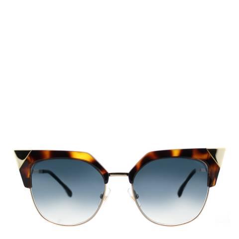 Fendi Women's Brown/Gold Iridia Sunglasses 54mm