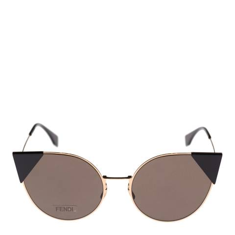 Fendi Women's Rose Gold Lei Sunglasses 57mm
