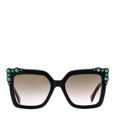 Fendi Women's Dark Brown Can Eye Sunglasses 52mm