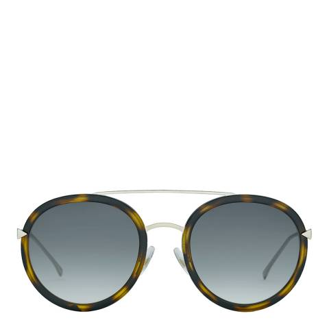 Fendi Women's Brown/Gold Funky Angle Sunglasses 51mm