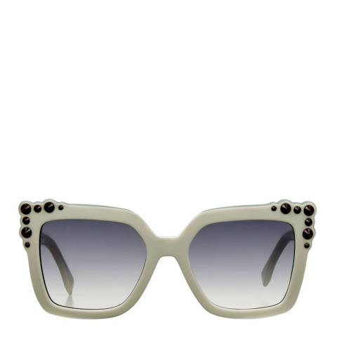 Fendi Women's White/Light Turquoise Can Eye Sunglasses 52mm