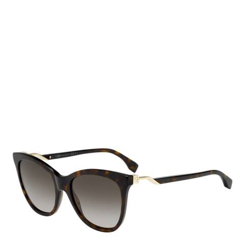 Fendi Women's Dark Havana / Brown Gradient Sunglasses 55mm