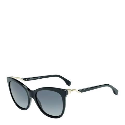 Fendi Womens Black / Grey Gradient Sunglasses 55mm