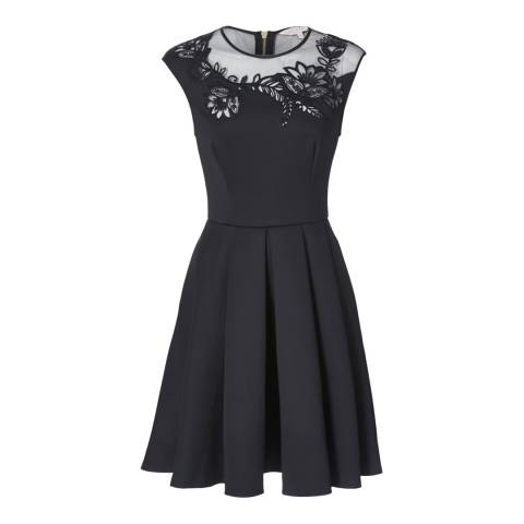 Ted Baker Black Dollii Embroidered Cut Out Dress