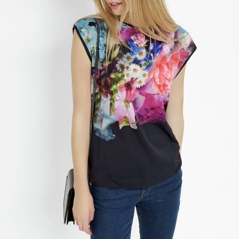Ted Baker Navy Verena Focus Bouquet Woven T Shirt