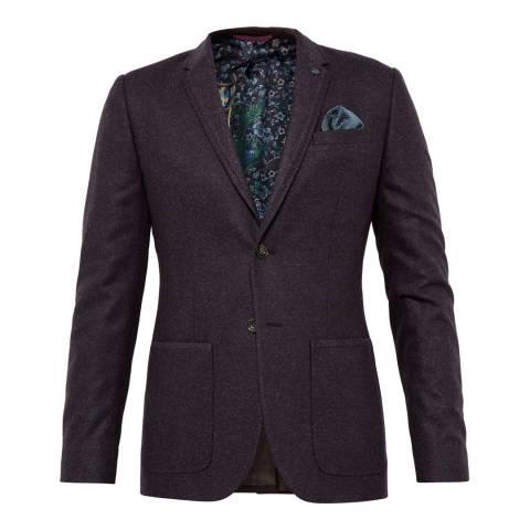 Ted Baker Purple Clooney Diamond Design Jacket