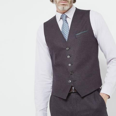 Ted Baker Purple Cloowai Diamond Design Waistcoat