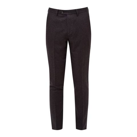 Ted Baker Purple Clootro Diamond Design Trousers