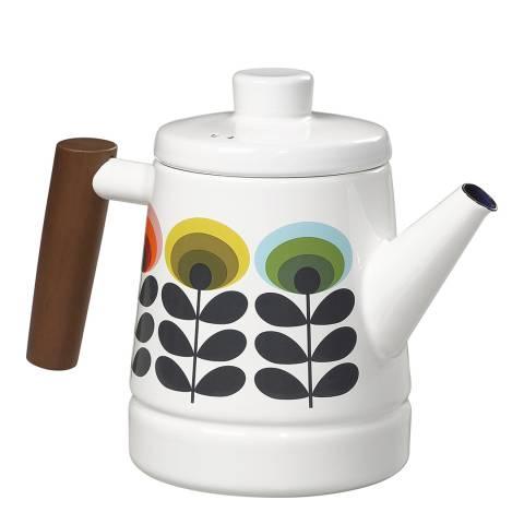 Orla Kiely Multi Coloured 70s Oval Enamel Teapot