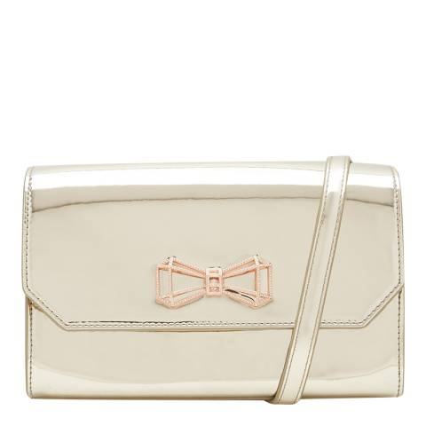 Ted Baker Silver Crystal Geo Bow Crossbody Bag