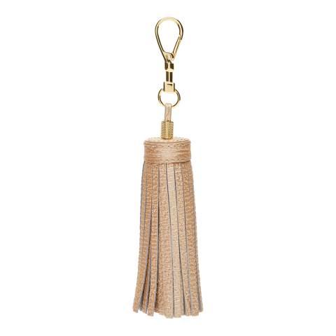 Ted Baker Gold Leather Tassle Bag Charm