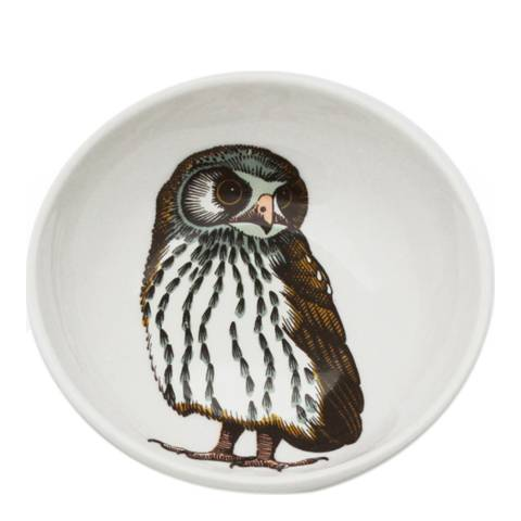 Jersey Pottery Faunus Set of 6 Small Bowls, Owl