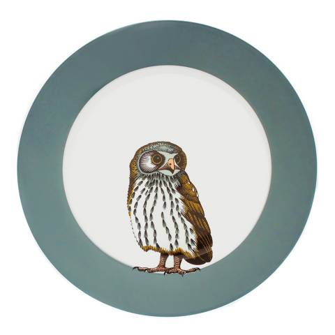 Jersey Pottery Faunus Set of 6 Dinner Plates, Owl