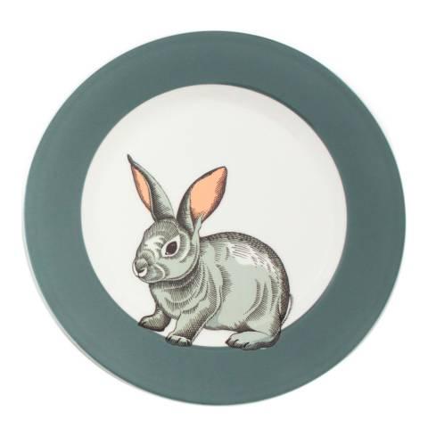 Jersey Pottery Faunus Set of 6 Small Plates, Rabbit