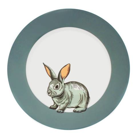 Jersey Pottery Faunus Set of 6 Dinner Plates, Rabbit