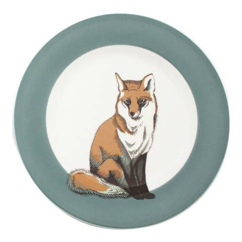 Jersey Pottery Faunus Set of 6 Small Plates, Fox