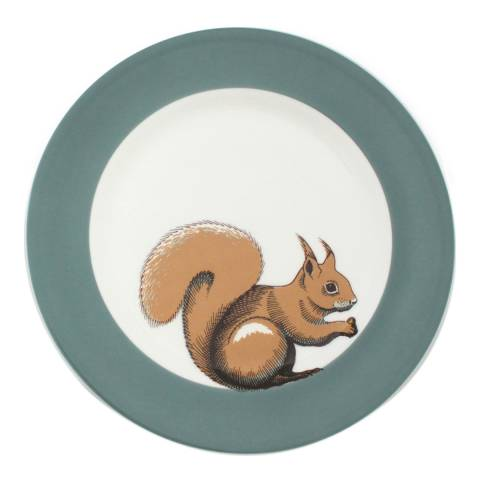 Jersey Pottery Faunus Set of 6 Small Plates, Squirrel
