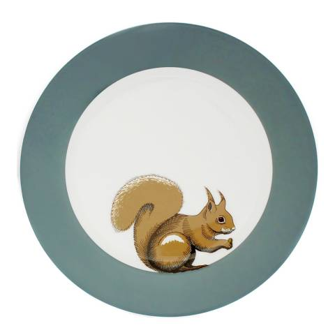 Jersey Pottery Faunus Set of 6 Dinner Plates, Squirrel