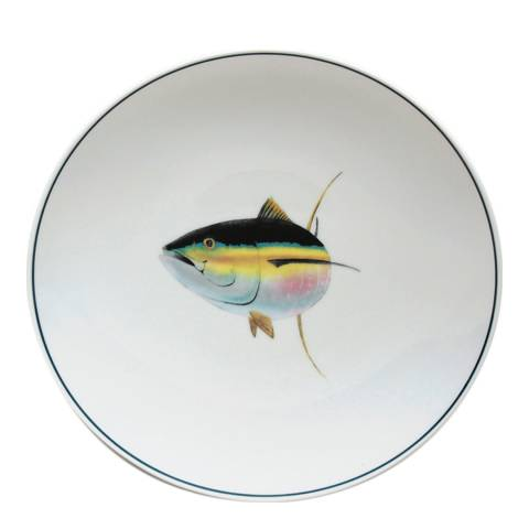 Jersey Pottery Seaflower Set of 4 Dinner Plates, Tuna