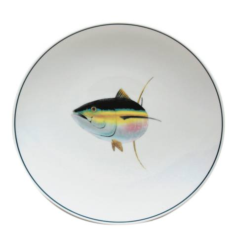 Jersey Pottery Set of 4 Tuna Seaflower Salad Plates, 23cm