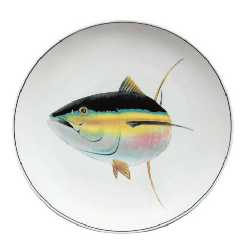 Jersey Pottery Seaflower Collection Charger Plate, 32cm, Tuna