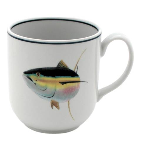 Jersey Pottery Set of 4 Tuna Seaflower Mugs