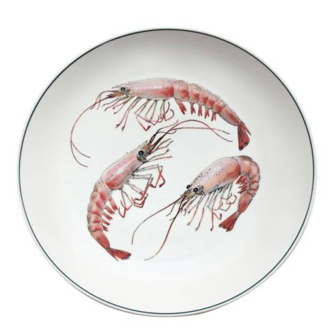 Jersey Pottery Shrimp Seaflower Charger Plate