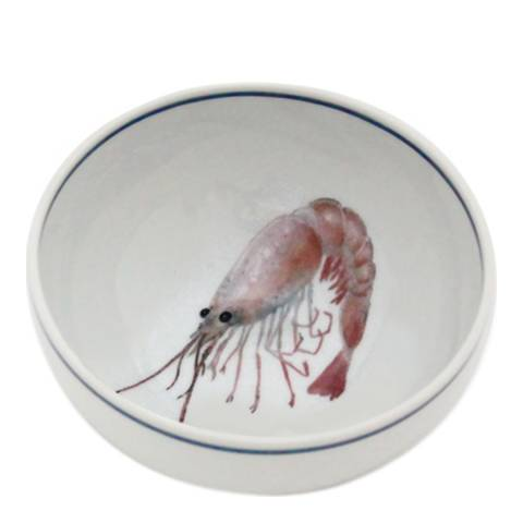Jersey Pottery Seaflower Collection Set of 6 Small Bowls, Shrimp