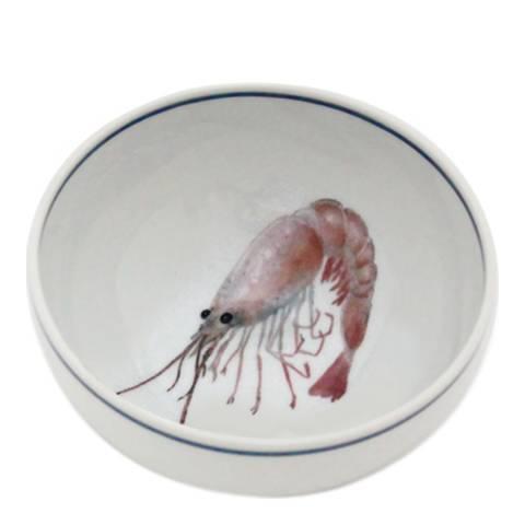 Jersey Pottery Set of 6 Shrimp Seaflower Small Bowls