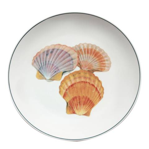 Jersey Pottery Seaflower Collection Charger Plate, 32cm, Scallop