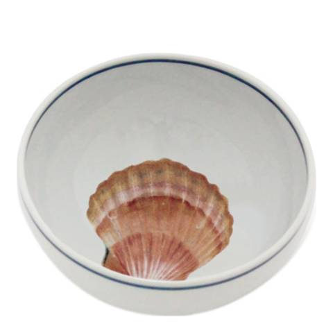 Jersey Pottery Seaflower Collection Set of 6 Small Bowls, Scallop