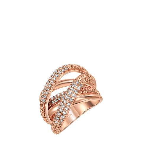 Tassioni Rose Gold Layered Ring