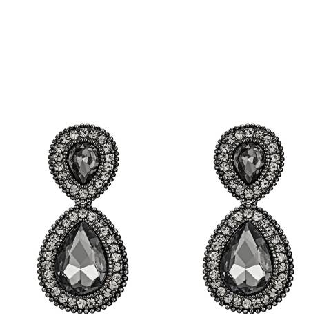 Tassioni Black Drop Earrings