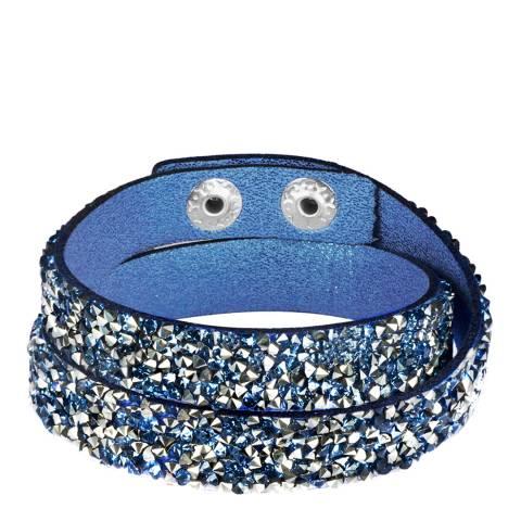 Tassioni Blue/Silver Textile Wrap Bracelet