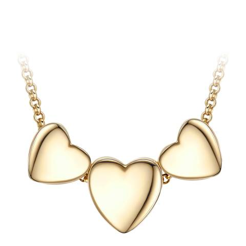 Tassioni Gold Triple Heart Necklace