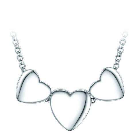 Tassioni Silver Triple Heart Necklace