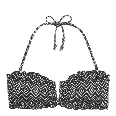 Eberjey Black Zen Stones Jolie Bikini Top