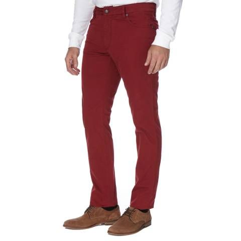 Hackett London Red Five Pocket Cotton Blend Trinity Trousers