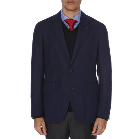 Hackett London Navy Slim Mayfair Cashmere Blazer