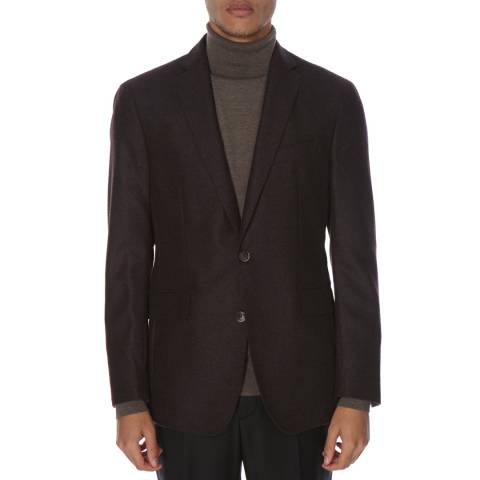 Hackett London Brown Double Face Tailored Wool Jacket