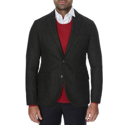 Hackett London Dark Green Shetland Wool Jacket