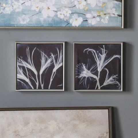 Gallery Indigo Floral Set of 2 325x55x325mm
