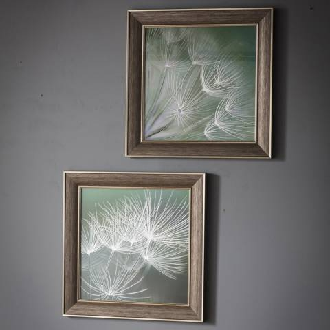 Gallery Set of 2 Brown/Green Floret Framed Wall Art
