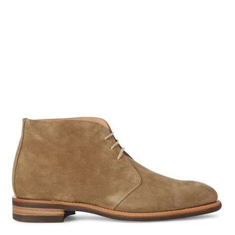 Hackett London Light Khaki Suede Chukka Boots