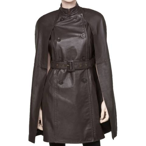Leon Max Collection OLD STYLE Brown Leather Cape