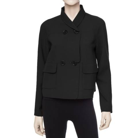 Leon Max Collection OLD STYLE Black Double Weave Wool Crepe Jacket